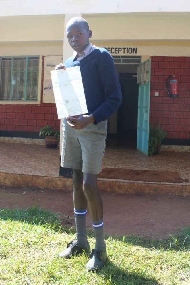 Kennedy Kiplimo, Top student, Insha writing competition