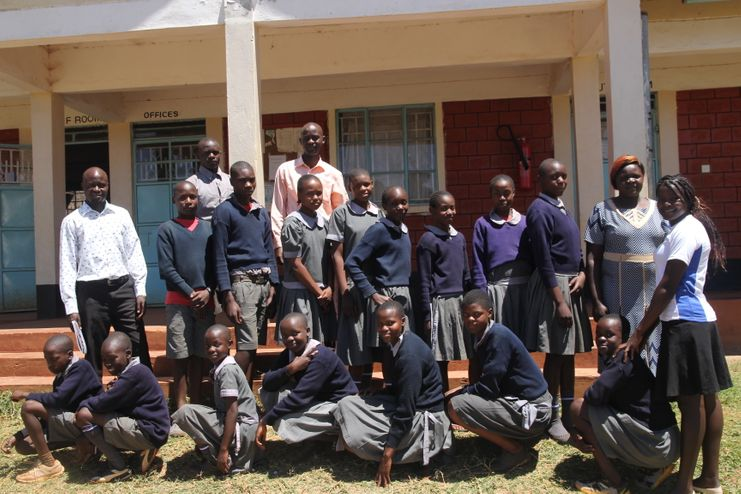 Reynolds community school pupils in Cherangany with their teachers.
